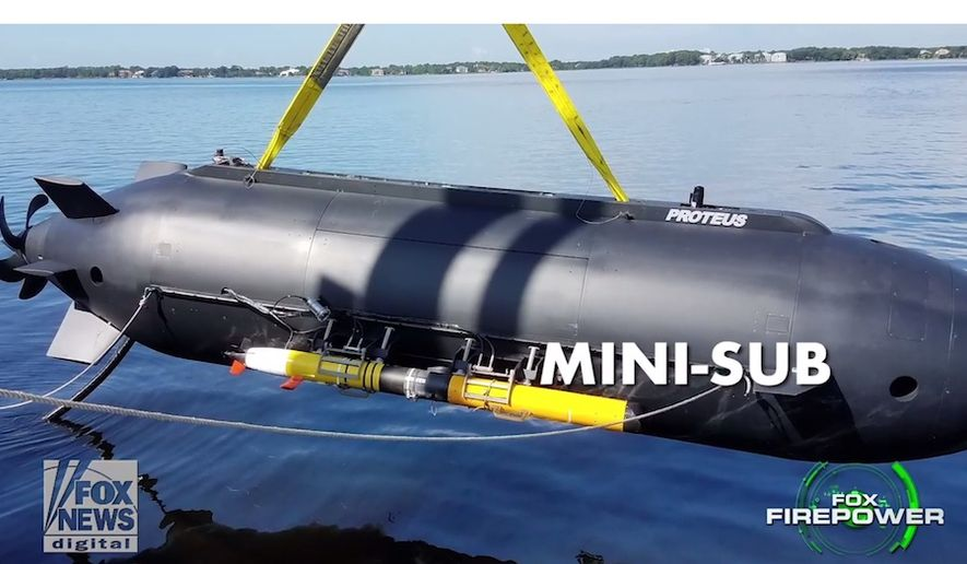 Navy officials have been impressed with the performance of Proteus, a miniature submarine that can carry 6 combat divers at one time, during tests at the Naval Special Warfare Center (Panama City Division) Advanced Naval Technology Exercise (ANTX). (Image: Fox News Defense screenshot)