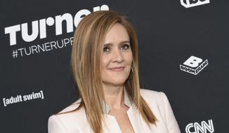 "In this May 16, 2016, file photo Samantha Bee attends the Turner Network 2016 Upfronts in New York. Bee is back on television, saying she's angry that the controversy over her use of a crude epithet to describe Ivanka Trump distracted from more important issues. Bee apologized again on Wednesday, June 6, 2018 at the start of her TBS show ""Full Frontal."" (Photo by Evan Agostini/Invision/AP, File)"