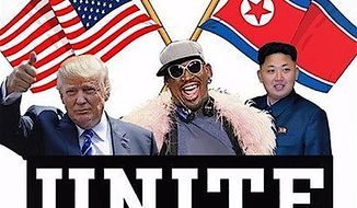 Dennis Rodman tweeted on Friday he would be on his way to Singapore for the North Korea summit. (Image from Twitter/Dennisrodman)