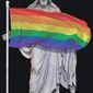 "Illustration on ""gay Christianity"" by Alexander Hunter/The Washington Times"