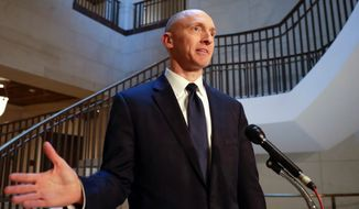 """It had been a mystery to me how MSNBC always miraculously knew about/was well staked-out for my Hart Senate Office Building visits, despite my best efforts to stay undercover,"" tweeted Carter Page. (Associated Press)"
