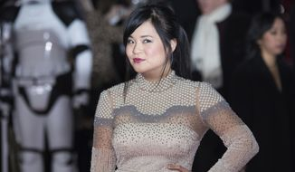Kelly Marie Tran poses for photographers upon arrival at the premiere of the film 'Star Wars: The Last Jedi' in London, Tuesday, Dec. 12th, 2017. (Photo by Vianney Le Caer/Invision/AP)