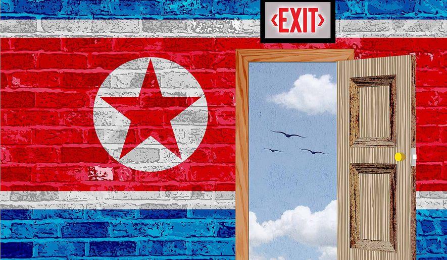 Korea Open Door Policy Illustration by Greg Groesch/The Washington Times