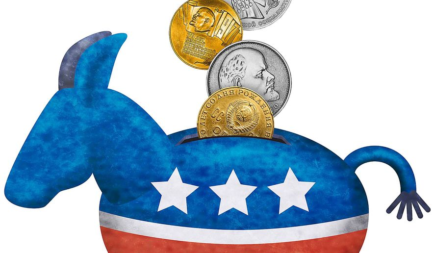 Russian Money Funneled to the Democrats Illustration by Greg Groesch/The Washington Times