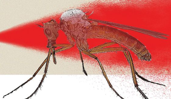Insect-borne Diseases Illustration by Linas Garsys/The Washington Times