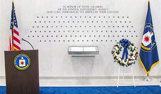 The CIA has honored four fallen officers at its memorial wall, which uses stars rather than names, in keeping with their clandestine calling. (CIA)