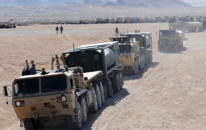 us army soldiers roll through a national guard training area in artemus kentucky june
