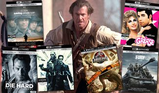 "Last-minute movie gift ideas for dad include ""Saving Private Ryan: Commemorative 20th Anniversary Edition,"" ""Die Hard,"" ""The Matrix,"" ""Grease: 40th Anniversary Edition,"" ""Fury,""  ""Jurassic Park Collection: 25th Anniversary Edition"" and ""The Patriot."""