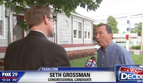 Seth Grossman, a congressional candidate who was endorsed by the National Republican Congressional Committee after winning last week's GOP primary, is doubling down on controversial comments he made in April slamming the Democratic Party's idea of diversity. (FOX29)