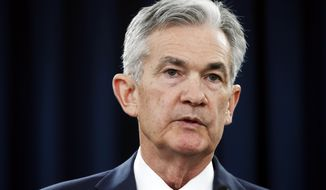 Federal Reserve Chair Jerome Powell speaks to the media after the Federal Open Market Committee meeting, Wednesday, June 13, 2018, in Washington. (AP Photo/Jacquelyn Martin)