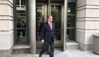 James Wolfe, former director of security with the Senate Intelligence Committee, leaves the federal courthouse in Washington on  June 13, 2018, after he was indicted for lying to FBI agents about contacts with three reporters in an investigation into the leak of classified information to the press. (Jeff Mordock/The Washington Times)