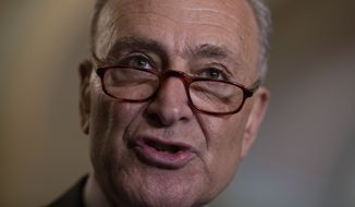 """Anyone who is hoping to use this report to undermine the Mueller probe or prove the existence of a deep state conspiracy against President Trump will be surely disappointed,"" Senate Minority Leader Charles E. Schumer told reporters. (Associated Press)"