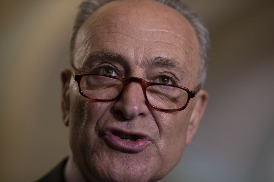 """""""Anyone who is hoping to use this report to undermine the Mueller probe or prove the existence of a deep state conspiracy against President Trump will be surely disappointed,"""" Senate Minority Leader Charles E. Schumer told reporters. (Associated Press)"""