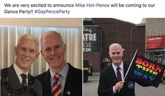"A man dubbed ""Mike Hot-Pence"" will attend the ""Big LGBTQ Dance Party"" in Columbus, Ohio, June 15, 2018. The event, hosted by Progress Ohio, will be held outside the vice president's hotel. (Image: Facebook, Big LGBTQ Dance Party screenshot)"