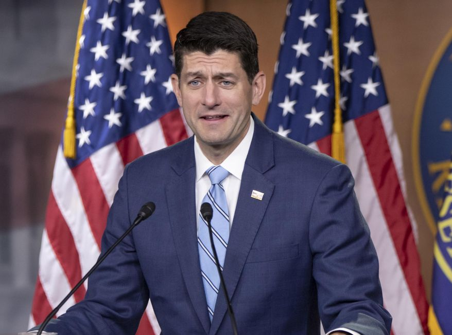 """House Speaker Paul D. Ryan and his team want to have a vote on their immigration plan by the end of this week, but they will need the president to tell them that he fully embraces the """"moderate"""" bill that they crafted. (Associated Press/File)"""