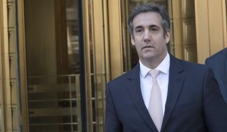 In this April 26, 2018 file photo, Michael Cohen, President Donald Trump's personal attorney, leaves federal court in New York. (AP Photo/Mary Altaffer, File)