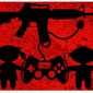 Illustration on video game violence by Alexander Hunter/The Washington Times