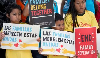The Trump administration's move to separate immigrant families on the border has turned into a crisis. (Associated Press)