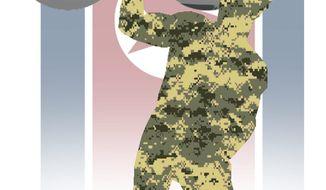 Illustration on U.S./ROK military exercizes by Alexander Hunter/The Washington Times