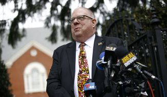 Maryland Gov. Larry Hogan is among the most popular governors in the country despite being a Republican in a deep-blue state, and Democrats are desperate to try to ruin the relationship. (Associated Press/File)