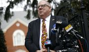Maryland Gov. Larry Hogan speaks at a news conference in Annapolis, Md., Monday, April 9, 2018, the final day of the state's 2018 legislative session. (AP Photo/Patrick Semansky)