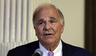 Former Pennsylvania Gov. Ed Rendell speaks at Pennsylvania Hospital in Philadelphia on Monday, June 18, 2018. (AP Photo/Matt Rourke) ** FILE **