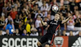 """The coaches made it pretty explicit to us that this was a high priority,"" D.C. United forward Patrick Mullins said of Wednesday's match against Orlando City SC. (ASSOCIATED PRESS)"