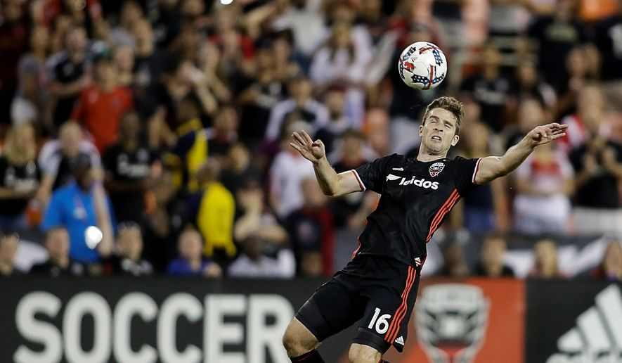 """""""The coaches made it pretty explicit to us that this was a high priority,"""" D.C. United forward Patrick Mullins said of Wednesday's match against Orlando City SC. (ASSOCIATED PRESS)"""