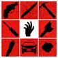 """Illustration on self-defense and banning """"weapons"""" by Alexander Hunter/The Washington Times"""