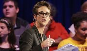 In this Friday, Nov. 6, 2015, file photo, MSNBC's Rachel Maddow speaks during a Democratic presidential candidate forum at Winthrop University in Rock Hill, S.C. (AP Photo/Chuck Burton, File)