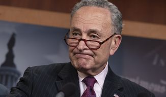 """There's no need for legislation,"" said Senate Minority Leader Charles E. Schumer, New York Democrat. ""Mr. President, you started it, you can stop it, plain and simple."" (Associated Press)"