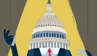 Illustration on Big Tech's lobbying by Linas Garsys/The Washington Times