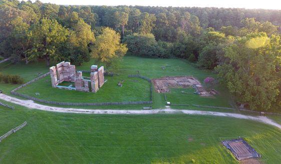Excavation sites at Jamestown, VA.   Photo courtesy of the authors