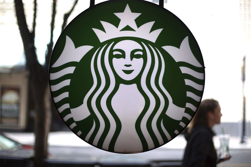 This is a sign in a Starbucks located in downtown Pittsburgh on Saturday, March 24, 2018. (AP Photo/Gene J. Puskar)