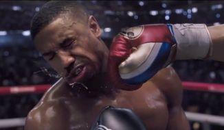"Michael B. Jordan's ""Adonis Johnson"" will take on ""Viktor Drago"" (Florian Munteanu) in the upcoming boxing film ""Creed II,"" which premiers Nov. 21, 2018. (Image: YouTube, MGM)"