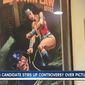 Sarah Swain, a Democratic candidate for Kansas attorney general, is facing calls to drop out of the race over a poster that hung in her office for years that depicted Wonder Woman choking a police officer. (KSHB-TV)