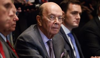Secretary of Commerce Wilbur Ross listens during a meeting between President Donald Trump and Republican members of Congress on immigration in the Cabinet Room of the White House, Wednesday, June 20, 2018, in Washington. (AP Photo/Evan Vucci)