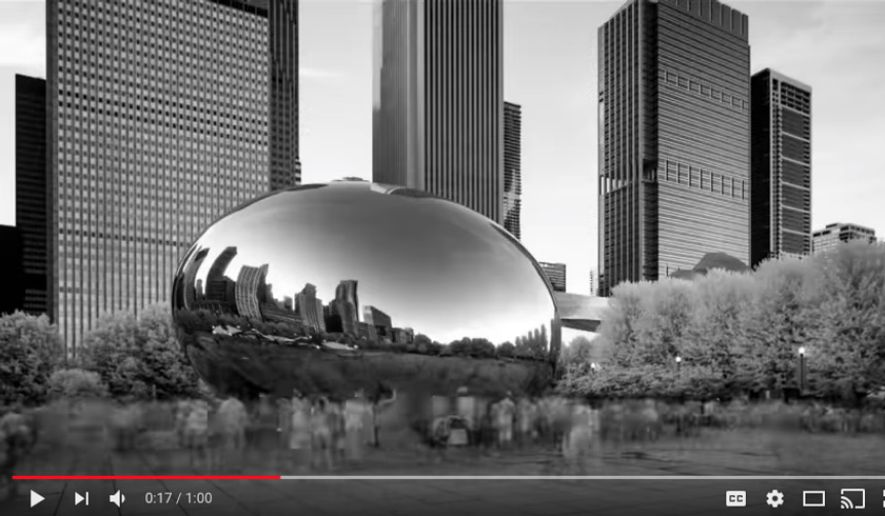 Depicted here is a screen shot from an NRA YouTube video that is the subject of a copyright-infringement lawsuit. The NRA's use of the image shown here, depicting the Cloud Gate sculpture in Chicago, is in violation of the artist's copyright, according to a claim filed by sculptor Anish Kapoor.  (YouTube)