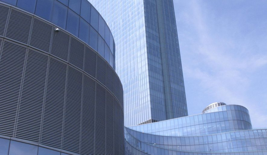 This Monday, June 18, 2018, photo, shows the exterior of the soon-to-open Ocean Resort Casino in Atlantic City, N.J. On Wednesday, June 20, 2018, the casino will go before the New Jersey Casino Control Commission seeking a casino license just eight days before it is due to open on June 28. (AP Photo/Wayne Parry)