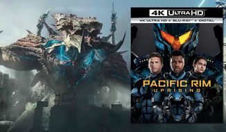 "Monstrous Kaiju and mechanical Jaegers battle again in ""Pacific Rim: Uprising,"" now available on 4K Ultra HD from Universal Studios Home Entertainment."