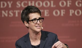 "MSNBC television anchor Rachel Maddow, host of ""The Rachel Maddow Show."" (AP Photo/Steven Senne, File)"