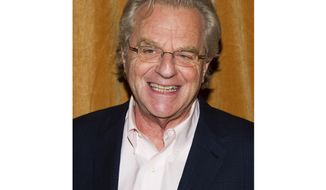 "FILE - In this Jan. 16, 2014 file photo, TV talk show host Jerry Springer attends the premiere of the Discovery Channel's ""Klondike"" in New York. After more than 4,000 episodes of ""The Jerry Springer Show,"" since 1991, Springer will stop making new ones. NBC Universal said this week that the CW and other networks that have bought the show in syndication will air reruns of the slugfest starting next fall. (Photo by Charles Sykes/Invision/AP, File)"