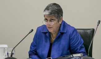 FILE - In this Sept. 17, 2015, file photo, University of California President Janet Napolitano addresses a Board of Regents meeting at the UC Irvine Student Center to discuss a controversial policy statement on intolerance in Irvine, Calif. State auditors on Thursday, June 21, 2018, faulted the University of California for not addressing sexual misconduct complaints on time and not disciplining faculty swiftly. They found some people accused of misconduct continued to sexually harass others after they were disciplined ineffectively. They also found the UC system is slower to discipline faculty than staff. UC President Janet Napolitano says the system accepts the audit report's recommendations and is working to improve. (AP Photo/Damian Dovarganes, File)