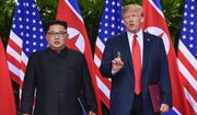 In this June 12, 2018, file photo, U.S. President Donald Trump makes a statement before saying goodbye to North Korea leader Kim Jong-un after their meetings at the Capella resort on Sentosa Island in Singapore. On Thursday, June 21, 2018, the Trump administration identified the missile test engine site that it says North Korea has pledged to destroy, but the president's latest comments about resolving the nuclear standoff have raised new questions about what concessions Pyongyang has made. (AP Photo/Susan Walsh, Pool, File)