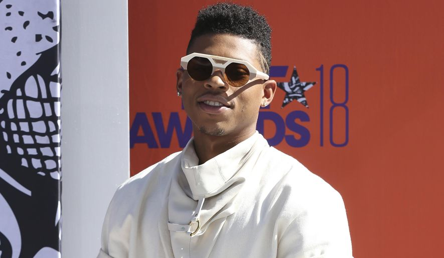 Bryshere Y. Gray arrives at the BET Awards at the Microsoft Theater on Sunday, June 24, 2018, in Los Angeles. (Photo by Willy Sanjuan/Invision/AP)