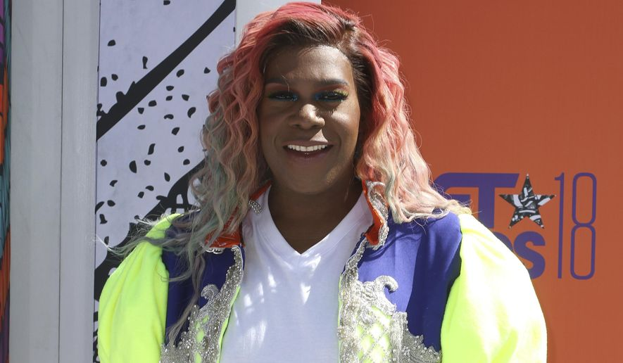 Big Freedia arrives at the BET Awards at the Microsoft Theater on Sunday, June 24, 2018, in Los Angeles. (Photo by Willy Sanjuan/Invision/AP) **FILE**