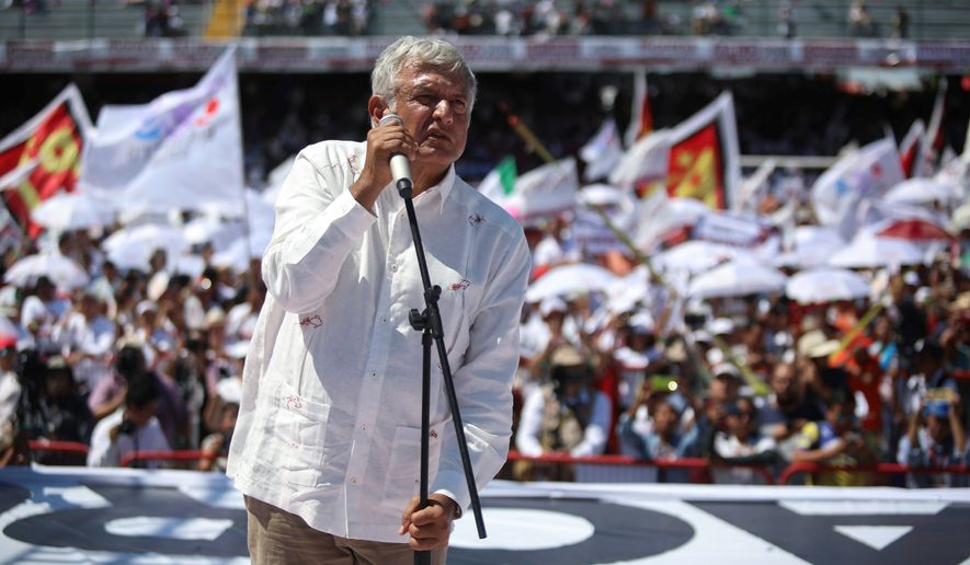 Mexican presidential candidate Andres Manuel Lopez Obrador finally has a good chance this year in his third attempt to win Los Pinos. (Associated Press/File)
