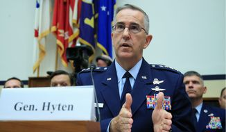 """Not all are committed to the responsible and sustainable use of space,"" Gen. John Hyten, commander of U.S. Strategic Command, told a House subcommittee. (Associated Press/File)"