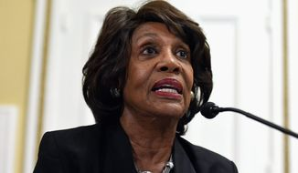 Rep. Maxine Waters, California Democrat (Associated Press) **FILE**
