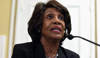 Rep. Maxine Waters, California Democrat (Associated Press) **FILE**
